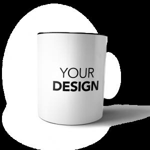 custom mug black handle & inner